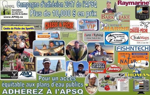 Lancement de la campagne d'adhésion 2018 de l'Association des Pêcheurs Sportifs du Québec